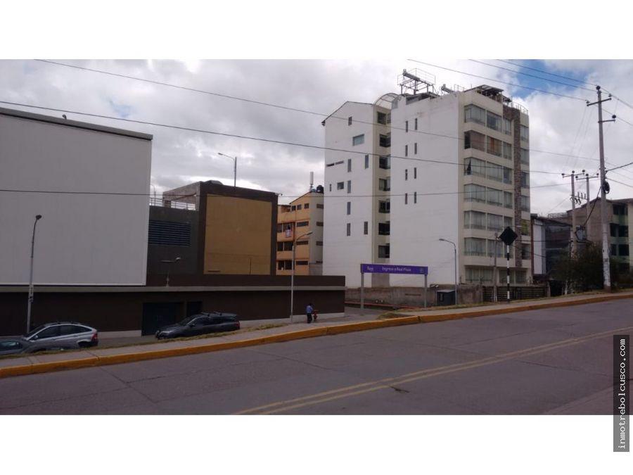 vendo lote de 300 m2 frente al real plaza cusco