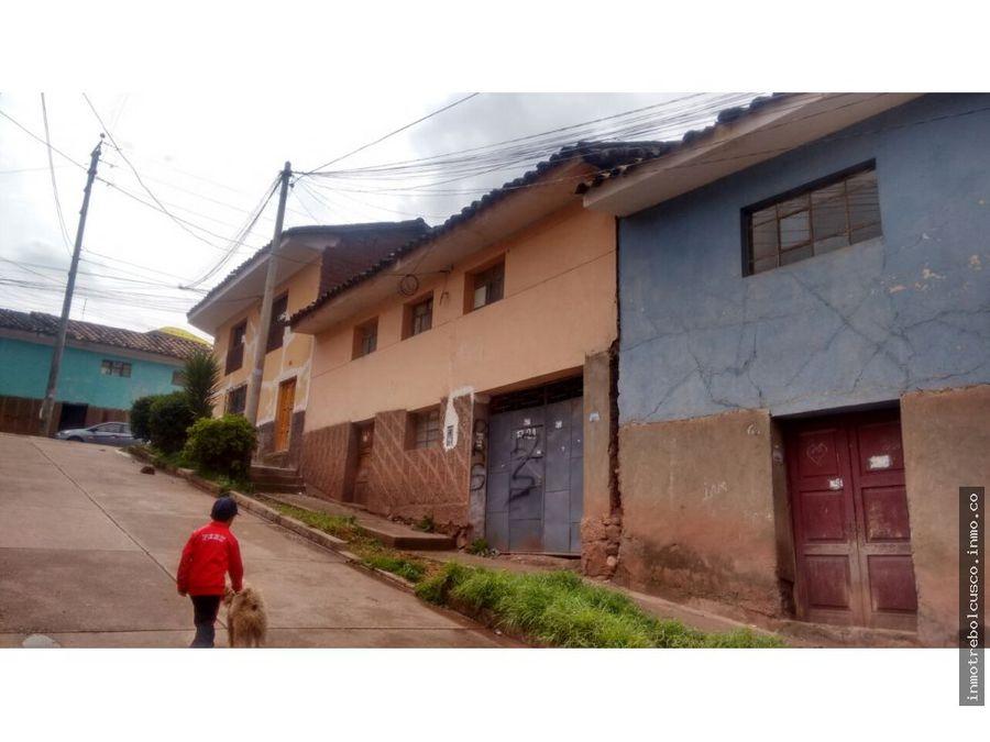 vendo lote 250 m con casa de adobe zarzuela cusco