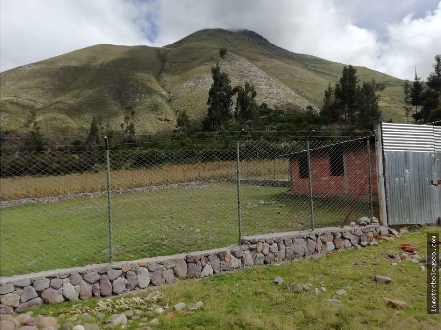 vendo 2 lotes 750m yanahuara valle sagrado cusco