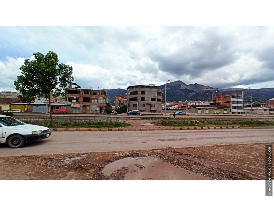 vendo lote comercial 560 m2 en esquina via evitamiento cusco peru