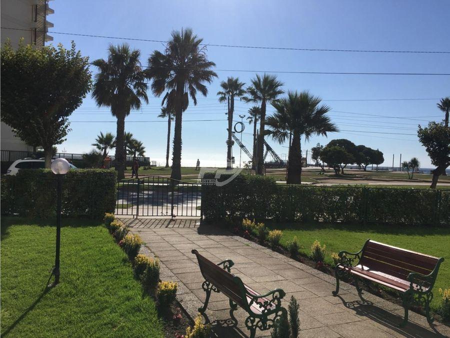 venta departamento 3d 2b con vista al mar en vina del mar