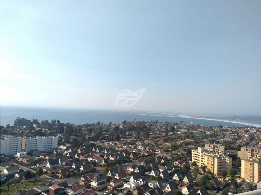 arriendo departamento 2d 2b amoblado con vista al mar en concon