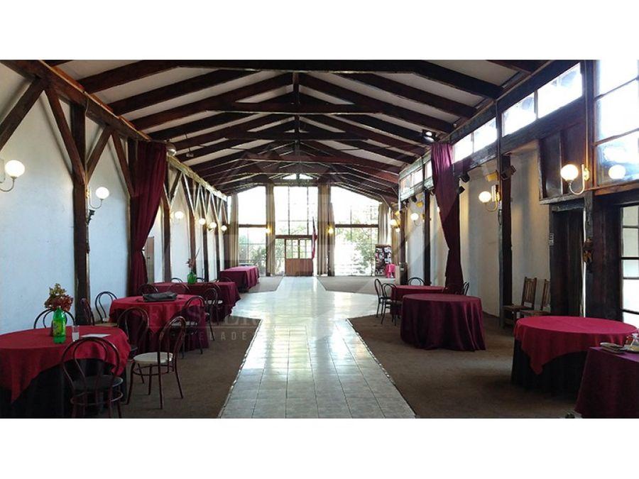 venta de restoran hotel y centro de eventos en los andes
