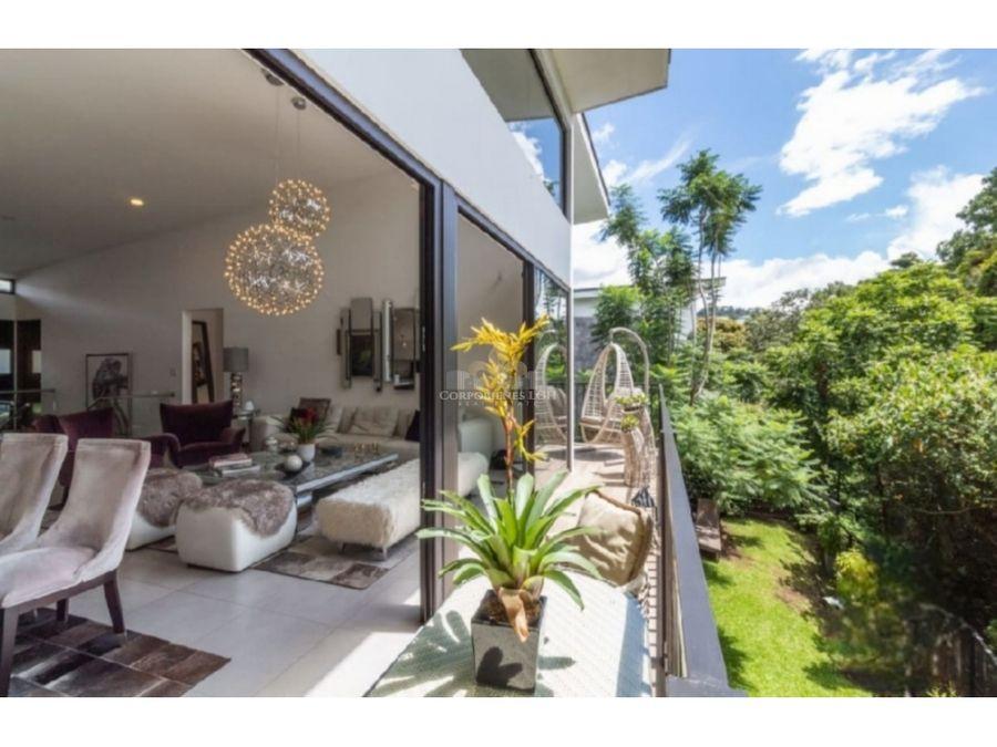 hermosa casa amueblada moderna minimalista en escazu