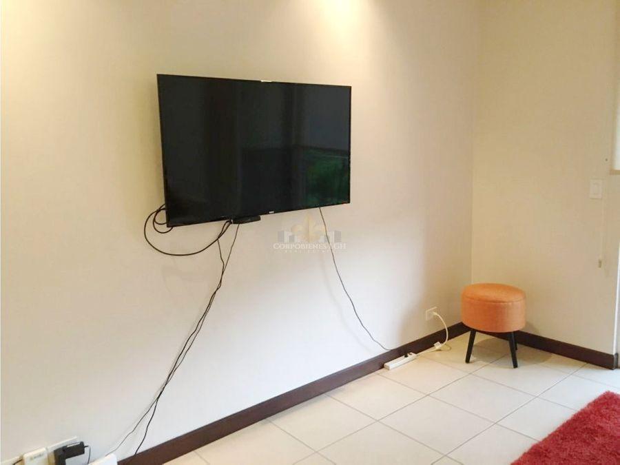 apartamento amueblado en condominio exclusivo