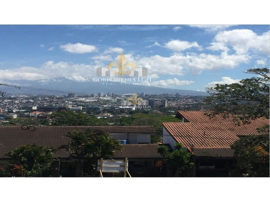 terreno 1148 m2 con hermosa vista en escazu