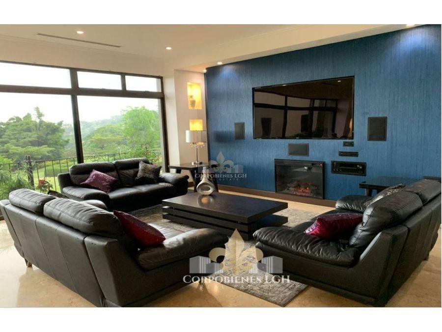 apartamento amueblado en altos de las palomas con hermosa vista