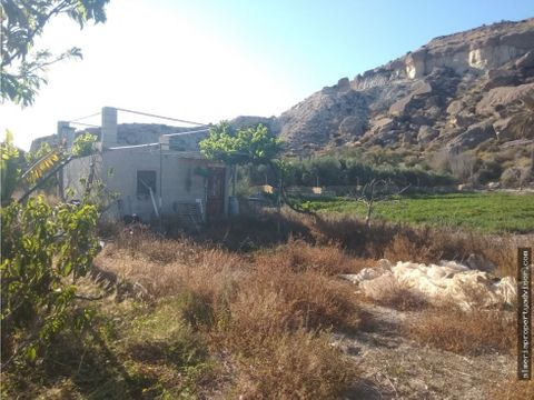 casa de aperos con terreno en cuevas almanzora