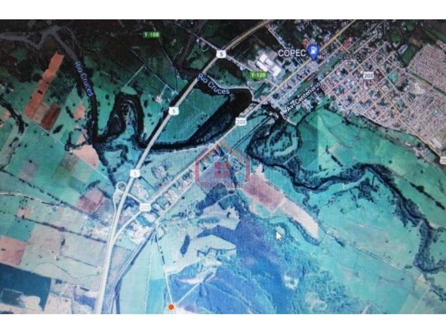 se vende hermosa parcela de 10000 mts urbanizada en lanco los rios