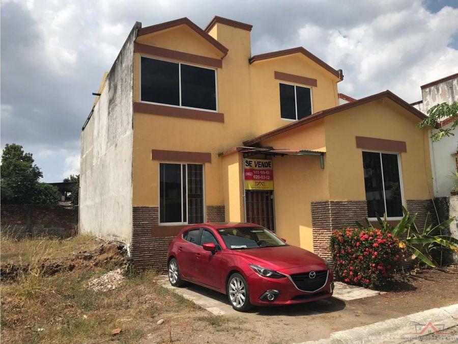 casa en venta en el fracc real izapa tapachula