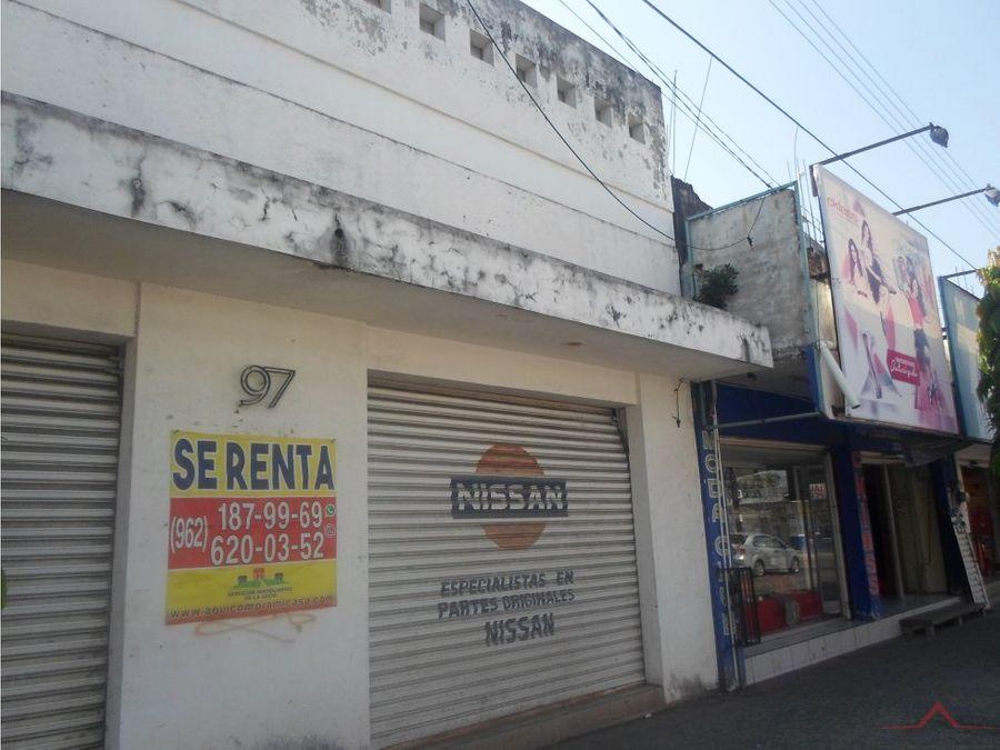 local en renta en avenida central tapachula