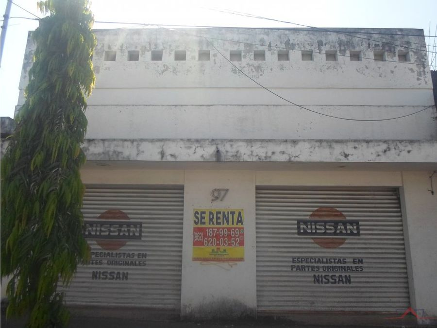local en renta en avenida central tapachula