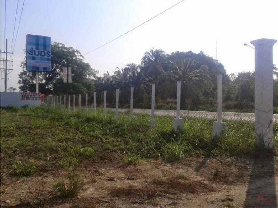 se vende o renta terreno en carretera puerto chiapas
