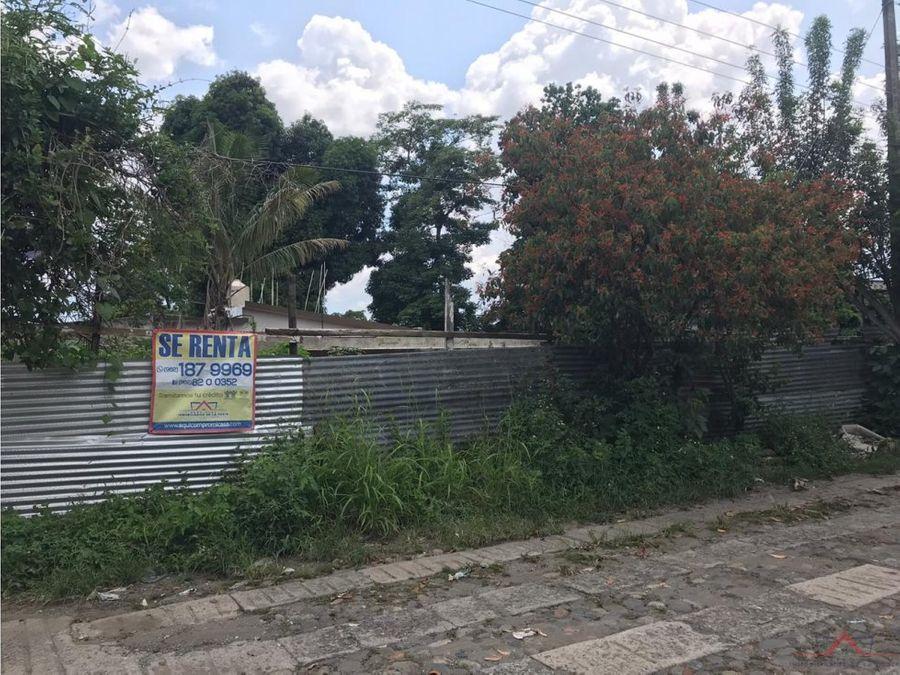 se vende o renta terreno quince avenida sur