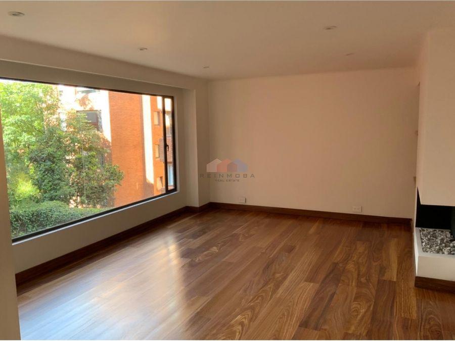 apartamento remodelado en arriendo en rosales bogota