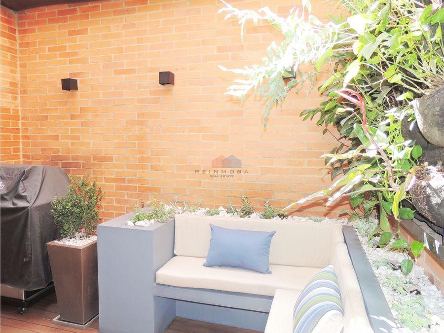 apartamento de diseno con terraza en venta en chico reservado