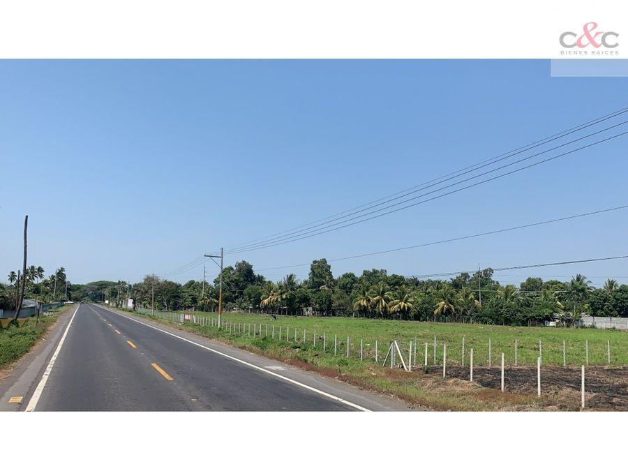 predio comercial en venta km 103 ca 9a carretera a marina del sur