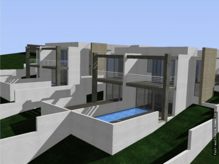 pareados nuevos con piscina en cala mandia