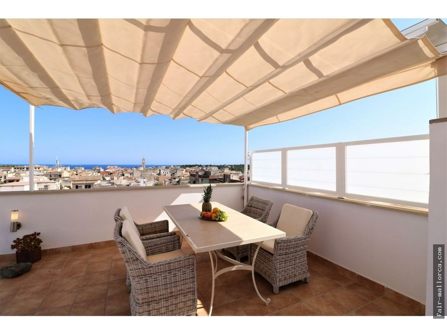 atico de lujo con terrazas grandes con vistas al mar porto cristo