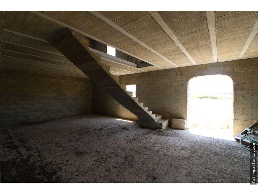finca en sant joan con estructura de 500m2 sin terminar