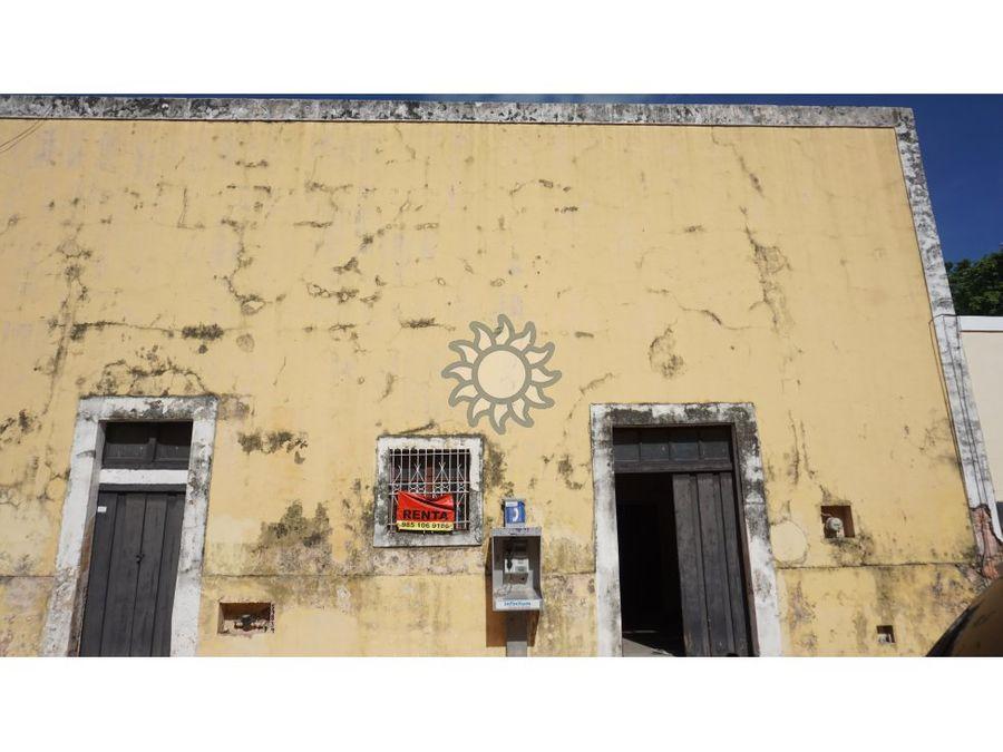 casona colonial en renta zona centro de valladolid