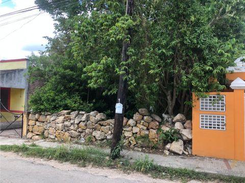 terreno en venta a pasos del convento de sisal