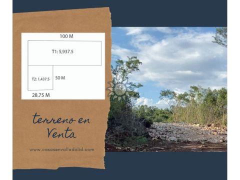terreno en venta frente a periferico valladolid yucatan