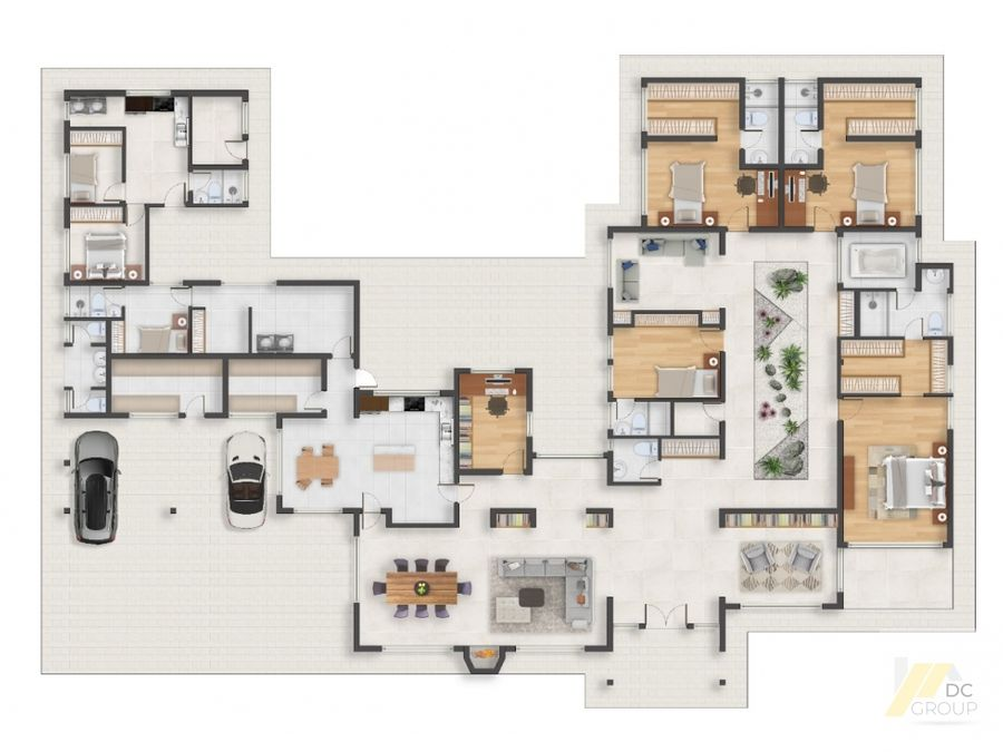 espectacular casa de un piso en obra negra