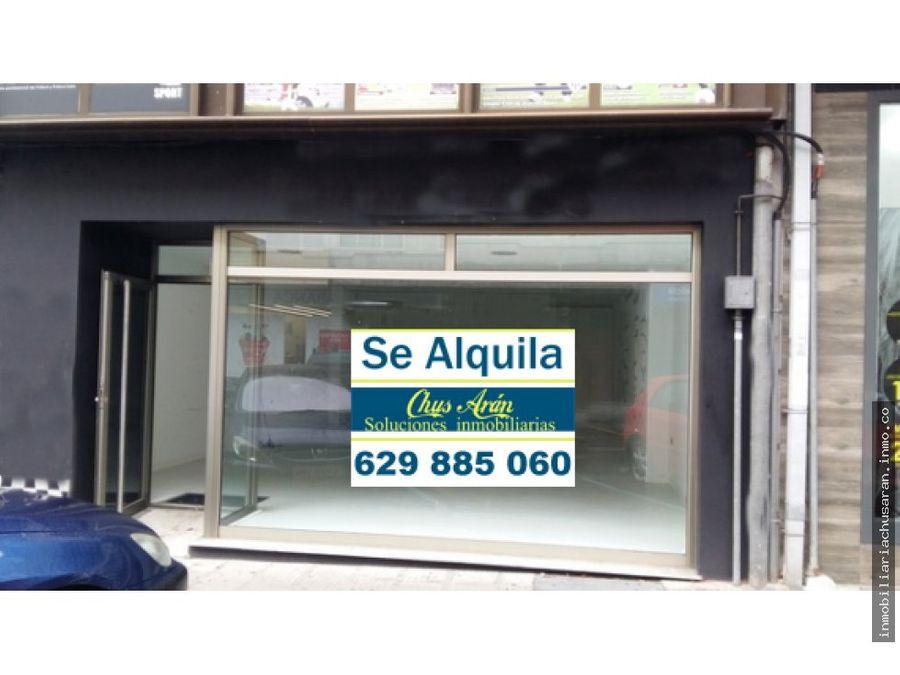 se alquila bajo en calle barcelona de carballo