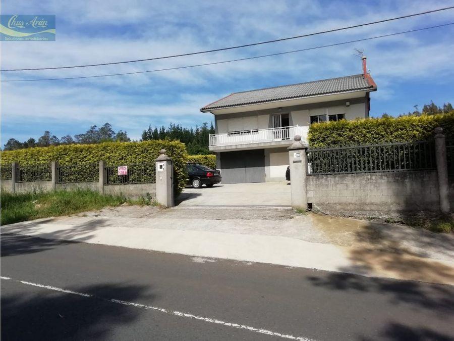 casa con terreno en oza