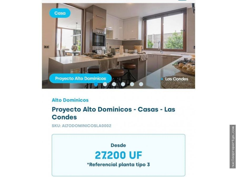 proyecto alto dominicos casas las condes