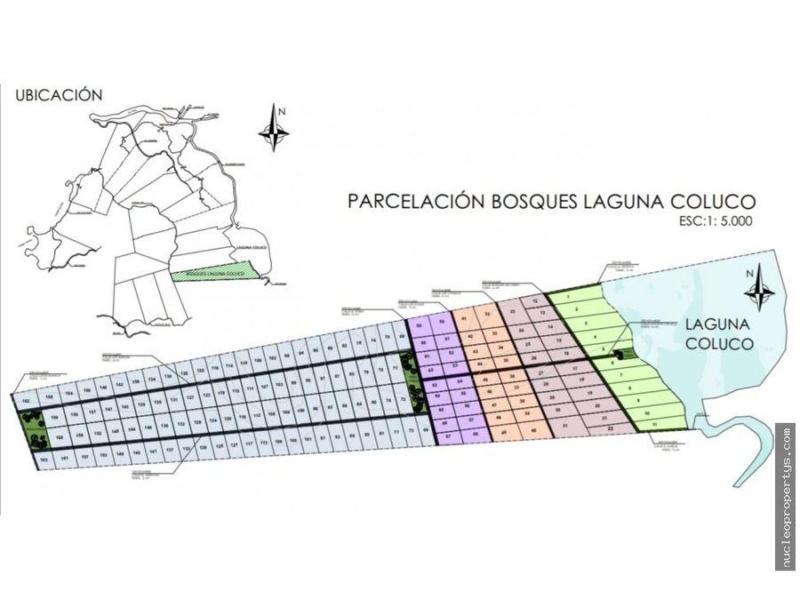 proyecto parcelas bosques laguna coluco chiloe
