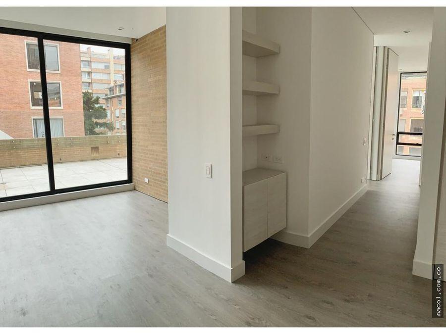 vendo excelente apartamento con terraza en chico reservado