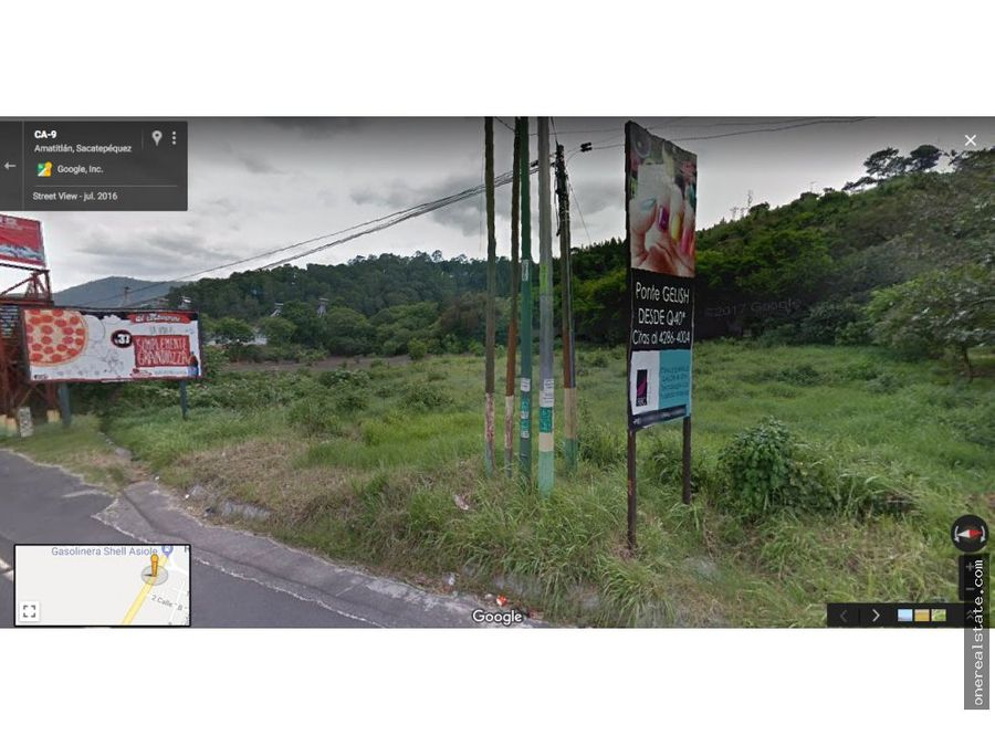 amatitlan km 26 terreno de 62 x 111 metros