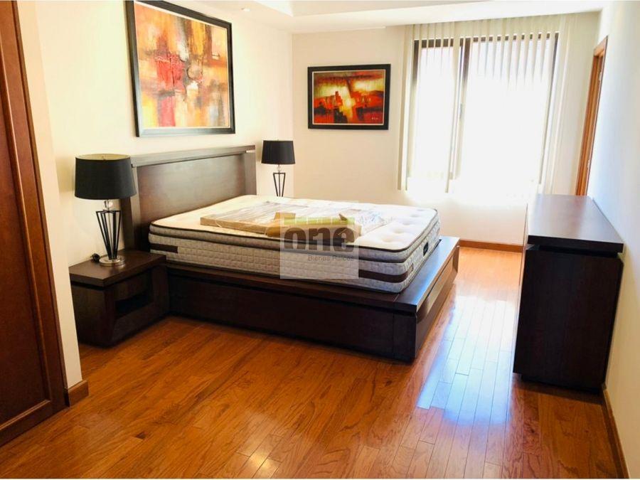 zona 14 apartamento amueblado 3 dormitorios