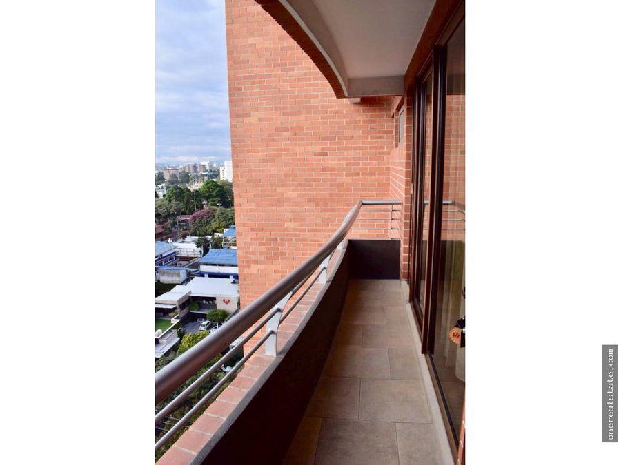 zona 10 apartamento amueblado de 1 dormitorio