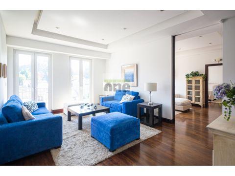 zona 14 apartamento amueblado 2 dormitorios 228 mts2