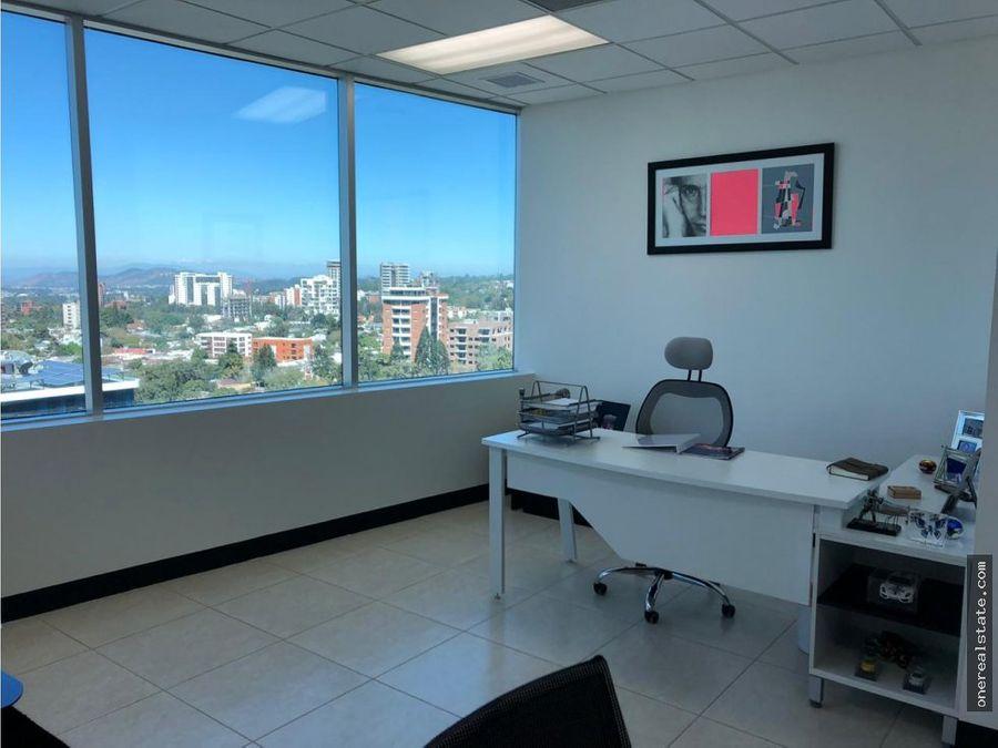 zona 10 alquilo oficina de 83 mts2