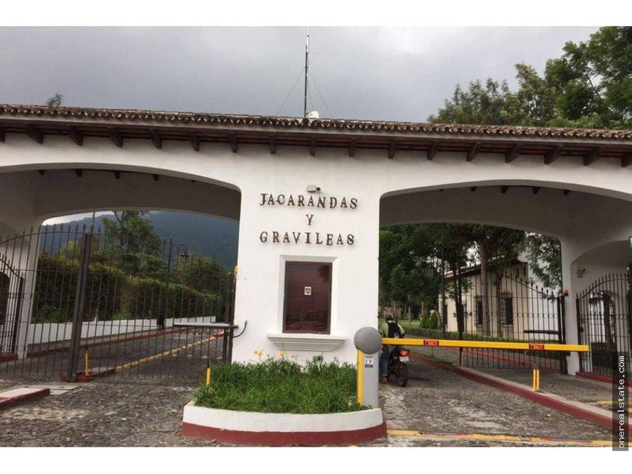 antigua guatemala cond las jacarandas 15 x 30 mts