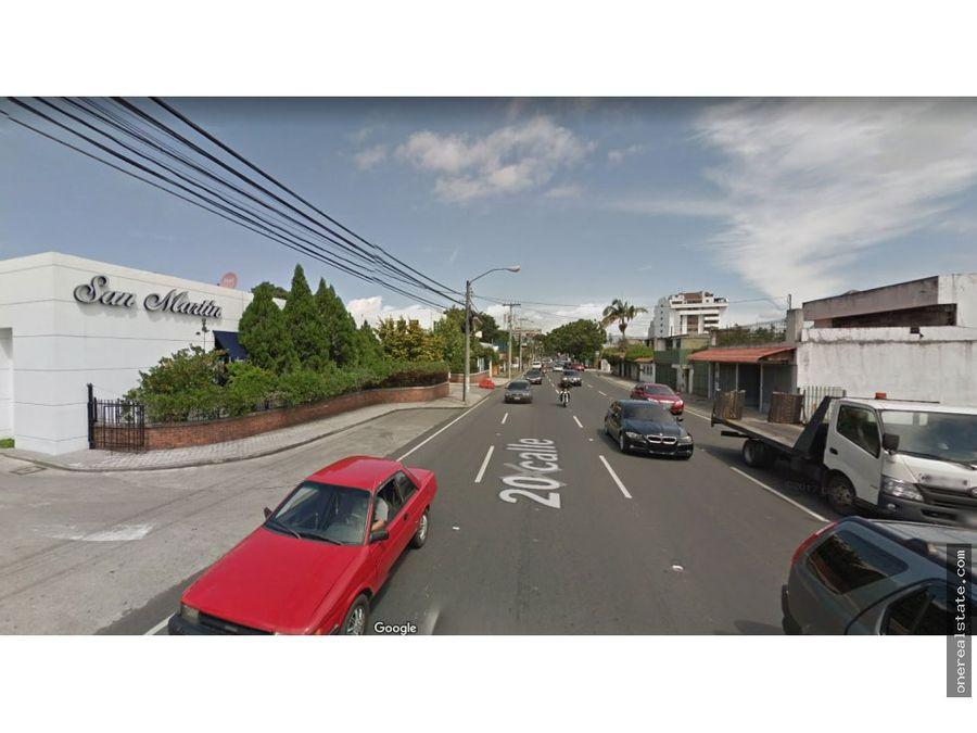 zona 10 en 20 calle propiedad de 15 x 40 metros