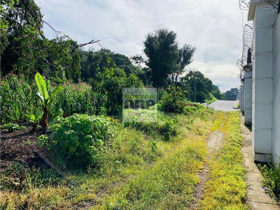 km 28 carretera al salvador vendo 28 manzanas