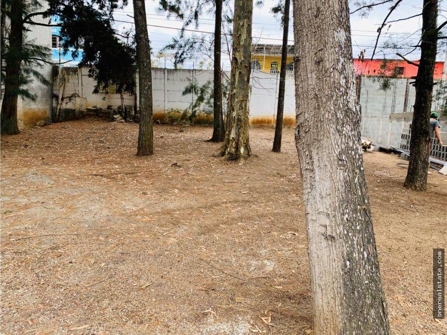 zona 18 villas del norte vendo terreno 8x20