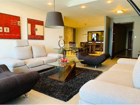 zona 14 vendo lujoso apartamento amueblado de 226 mts2