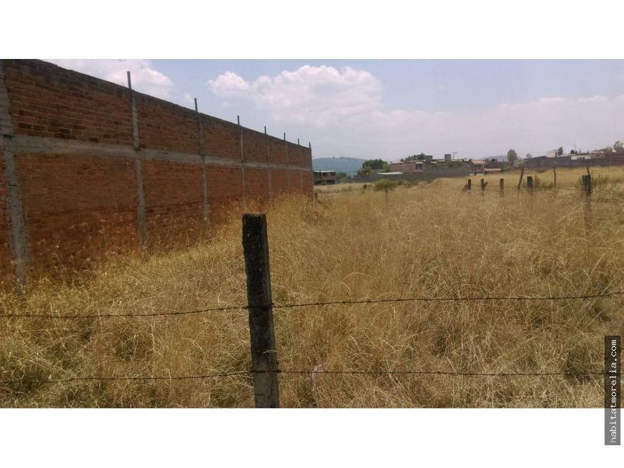terreno con servicios san juanito itzicuaro