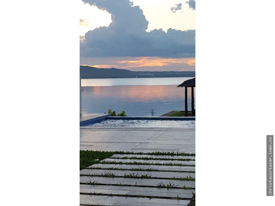 vendo casa sobre el lago san bernardino