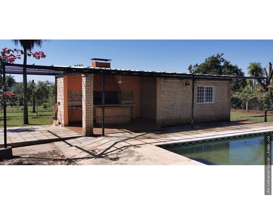 vendo hermosa casa en barrio cerrado en aregua