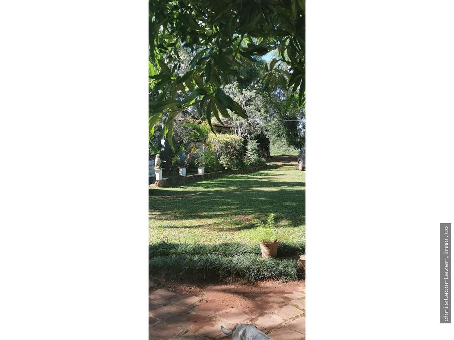 vendo hermosa casa quinta en aregua