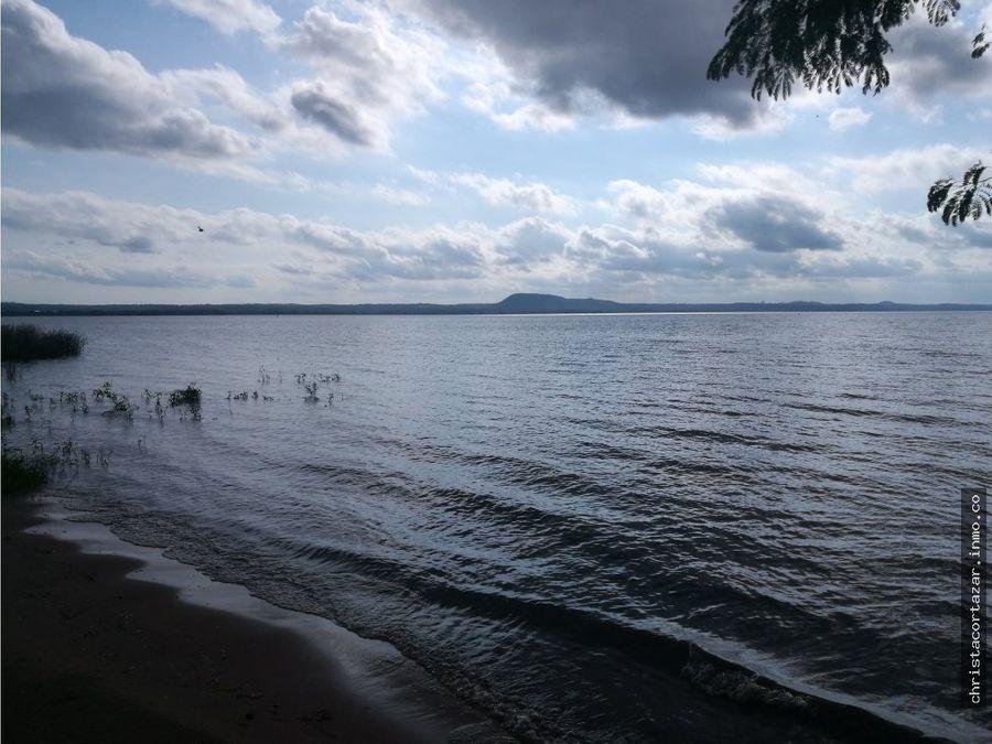 vendo terreno sobre el lago en san bernardino