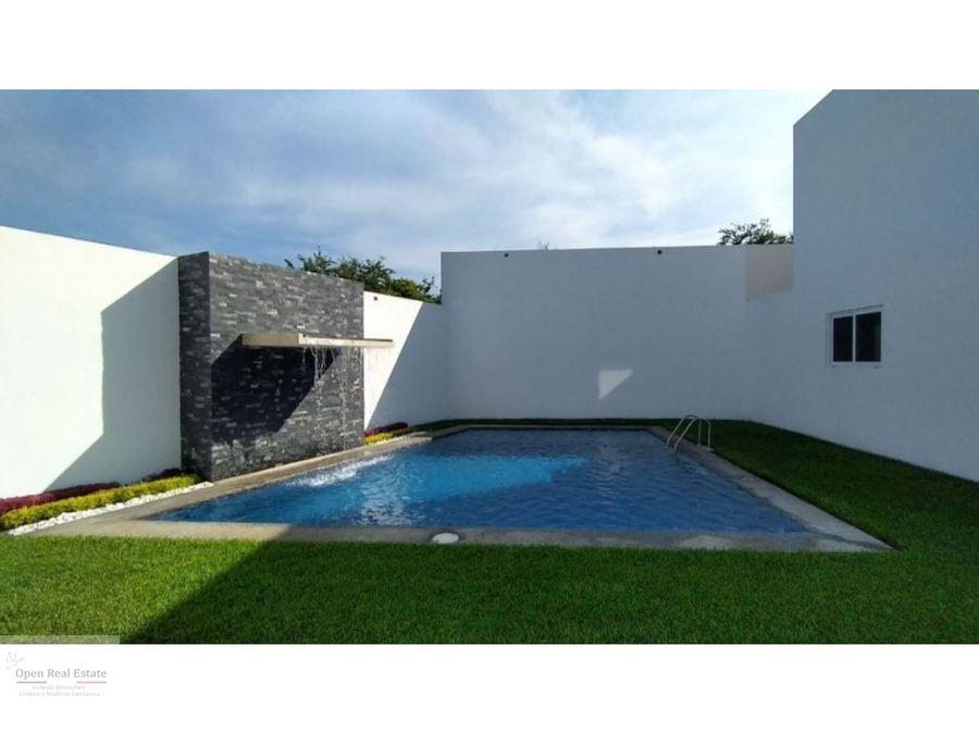 estrena moderna casa con roof garden al sur de cuernavaca