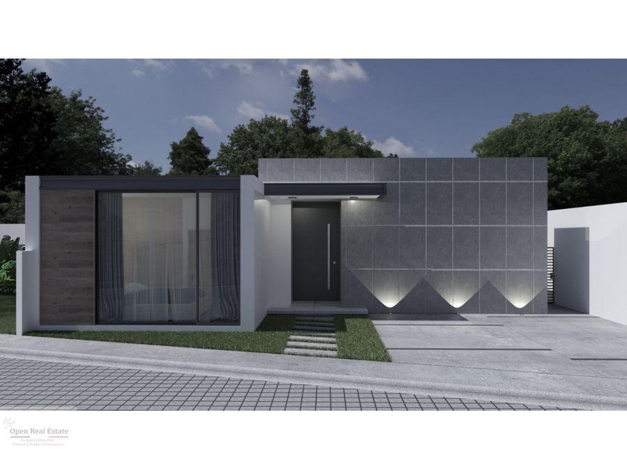 estrena moderna casa de un nivel en excelente zona